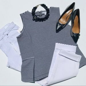 NWT LIZ CLAIBORNE black and white top